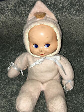 "1946 TRUDY BABY DOLL 14"" Composition THREE FACE Smile Cry Sleep VINTAGE Antique"