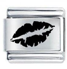 LIPS - Kiss - 9mm Daisy Charms by JSC Fits Classic Size Italian Charm Bracelet