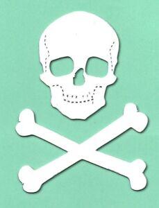 10 funky foam craft Skull & crossbones 10x9.5cm pirate die cuts spooky halloween