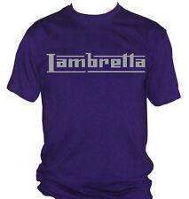 fm10 camiseta de hombre LAMBRETTA logo PLATA incluso otros colores PREGUNTE moto