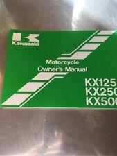 1993 Kawasaki Kx125 Kx 125 Kx250 Kx500 250 500 Motorcycle Owner's Manual New