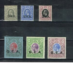 TANGANYIKA - KGV 1921 SG63/68 FINE MOUNTED MINT SET OF 6 STAMPS