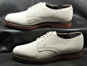 Cole Haan men's off white nubuck saddle casual lace up oxford shoes size US 9.5D