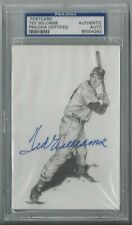 TED WILLIAMS PSA/DNA CERTIFIED SIGNED POSTCARD 1989 THUMPER AUTOGRAPHED SLABBED