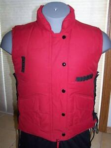 Mens WRANGLER 20X Down Hunting Vest Puffer Winter OUTERWEAR Size SMALL Red