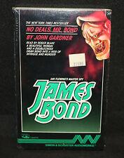 James Bond Books on Cassette - No Deals Mr. Bond by John Gardner (Sealed) 1987