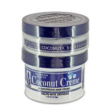 [HOLLYWOOD BEAUTY] COCONUT HAIR CREME 7.5OZ&CHOLESTEROL 4OZ DEEP CONDITIONER SET