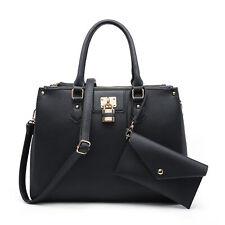 Dasein Women Handbag Set Satchels Tote Bags Shoulder Purse with Matching Wallet