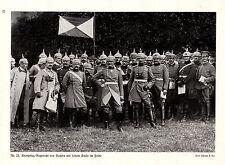 Prince héritier rupprecht de Bavière avec son point en campagne * print de 1915