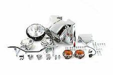 "7"" Headlamp Cowl Kit Chrome for Harley Davidson by V-Twin"