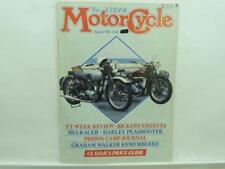 Aug 1985 The Classic Motorcycle Magazine Harley BSA Racer Graham Walker B1220