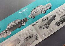 ✇ HUMBER HILLMANN SUNBEAM SINGER original Prospekt brochure deutsch 60er-Jahre