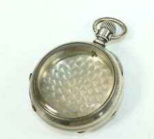 POCKET WATCH CASE - FAHYS 18 SIZE MONARCH COIN SILVER - BZ209