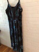 New City Chic Women's Maxi Dress Black/Floral 14W/XS, 16W/S, 22W/XL  G26