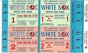 1972 Chicago White Sox Phantom Championship Series Tickets Block of 2 NRMT
