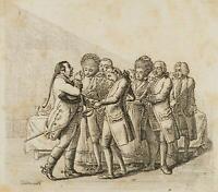 CHODOWIECKI (1726-1801). Verlobungsprozession; Druckgraphik