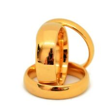 Tungsten Gold High Polished Comfort Fit Domed Wedding Band Ring-4-6-8mm
