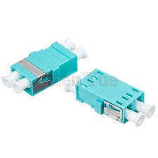 50pcs Fiber LC OM3 MM Duplex No Ear Fiber Adapter Optical Fiber Connector Flange