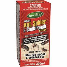Brunnings 200ml Ant, Spider and Cockroach Insecticide Concentrate pest control