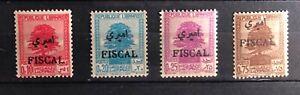 1937/40 Lebanon  Cedars overprinted Fiscal