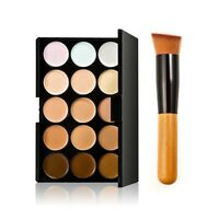 15 Farben Concealer Palette Kit mit Pinsel Make-up Contour Creme Palettes Pro