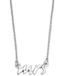 Kate Spade New York Small Pendant Necklace Silver-tone Mrs Say Yes Bridal Gift