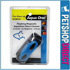 Aqua One Floating Magnet Cleaner Medium for up to 8mm Glass