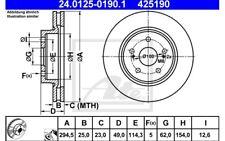 ATE Juego de 2 discos freno Antes 295mm ventilado para SUZUKI 24.0125-0190.1