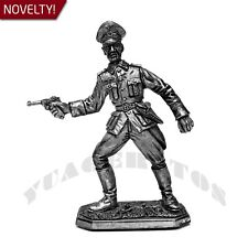 """Tin Soldier """"German Officer, 1944-45 year, WWII"""" 1/32 54mm"""
