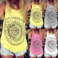 Fashion Women Summer Vest Tops Sleeveless Blouse Casual Tank Tops T-Shirt Tee