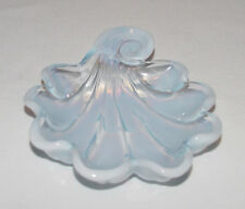 "PERFECT Vintage Duncan & Miller ""SANIBEL"" Blue Opalescent NAPPY BOWL!"