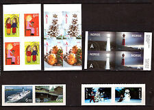 Norway Self adhesives booklets: Lighthouse ,tourism,& 3 christmas G75