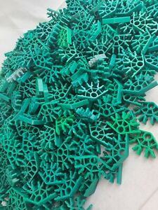 KNex - Green Angled Pieces - 1kg Approx - Bulk Lot - Free P&P - Clean