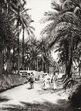 1934 Vintage 11x14 LIBYA Tripoli Souq Al Jum'aa Landscape Photo Art ~ HURLIMANN