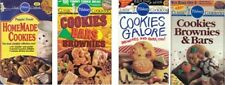 Pillsbury COOKIES BARS BROWNIES Lot of 4 Small Cookbooks Full of Sweet Recipes