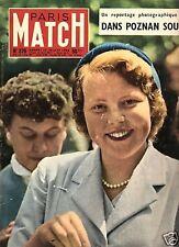paris match n°379 / poznan beatrix wilhelmine / 1956