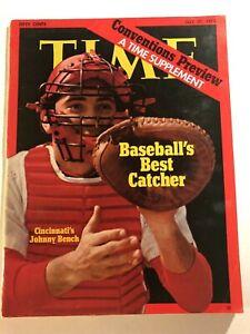 1972 TIME Magazine JOHNNY BENCH Cincinnati Reds BASEBALLS BEST CATCHER No Label