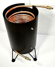 Poolheizung Feuertonne mit Spirale Kupferrohr 18x1mm 15m für Gardena Anschluss