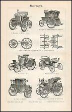 Stich Motorwagen Auto Benz Kutsche Daimler Electrobat Morris Salom 1895 Original