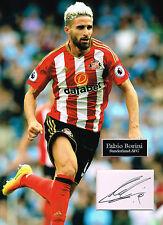 Fabio BORINI SIGNED Autograph 16x12 Photo Mount AFTAL COA Sunderland AFC