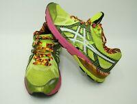Asics Gel Womens Size 7.5 Preleus Running Training Shoes T480N Yellow & Pink