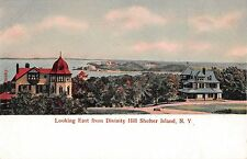c.1906 Distant Homes Ship Yards Greenport LI NY post card