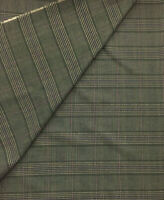 3.5 Metres Brown Checked Viscose Blend Fashion Suit Fabric. (340g)