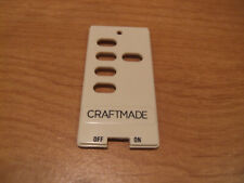 Craftmade Ceiling Fan Remote Wall Control Insert Switch Decora Button Almond
