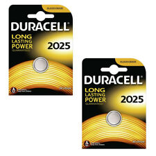 2 x DURACELL 2025 BATTERY LITHIUM 3V BUTTON COIN BATTERIES CR2025 ECR2025 L12