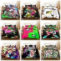 3D Splatoon Game Kids Colorful Bedding Set Duvet Cover Pillow Sham Quilt Cover