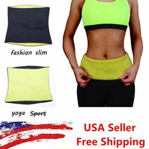 Hot Sweat Sauna Waist Trainer Cincher Women's Slimming Neoprene Body Shaper Belt