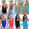Womens Monokini Swimming Costume Swimsuit Tankini Beach Swimwear Push Up Bikini