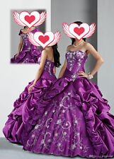 New Purple Ball Gown Quinceanera Dresses Formal Prom Party Wedding Dress Custom