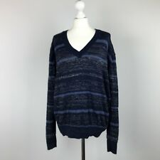 MiH Jeans Jumper UK Size 18 Approx NavyBlue Sparkle Womens Lagenlook